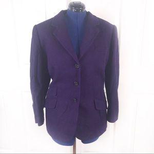 Lauren Ralph Lauren 18W silk blend purple blazer